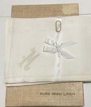 Vtg Light Beige Irish Linen Handkerchiefs for Men Monogrammed M Lot of 2... - $23.38