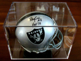 RAY GUY # 8 HOF 14 OAKLAND RAIDERS SIGNED AUTO RIDDELL MINI HELMET JSA CASE - $118.79
