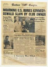 ORIGINAL Vintage Nov 23 1963 Death of JFK Kennedy Butler (PA) Eagle News... - $59.39