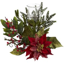 Poinsettia Candelabrum by Nearly Natural - €38,26 EUR