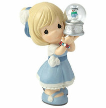 May Your Christmas Be Filled With Wonder Precious Moments Figurine Snowm... - $40.58