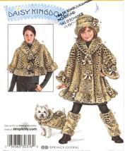 Misses Capelet Child Fur Coat Hat Leg Warmers Dog Coat Daisy Kingdom Sew Pattern - $14.99