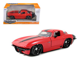1963 Chevrolet Corvette Stingray Red 1/24 Diecast Model Car by Jada - $34.95