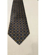Lladro Handmade Necktie check and plaid Pattern 100% Silk Blue Tie made ... - $14.85