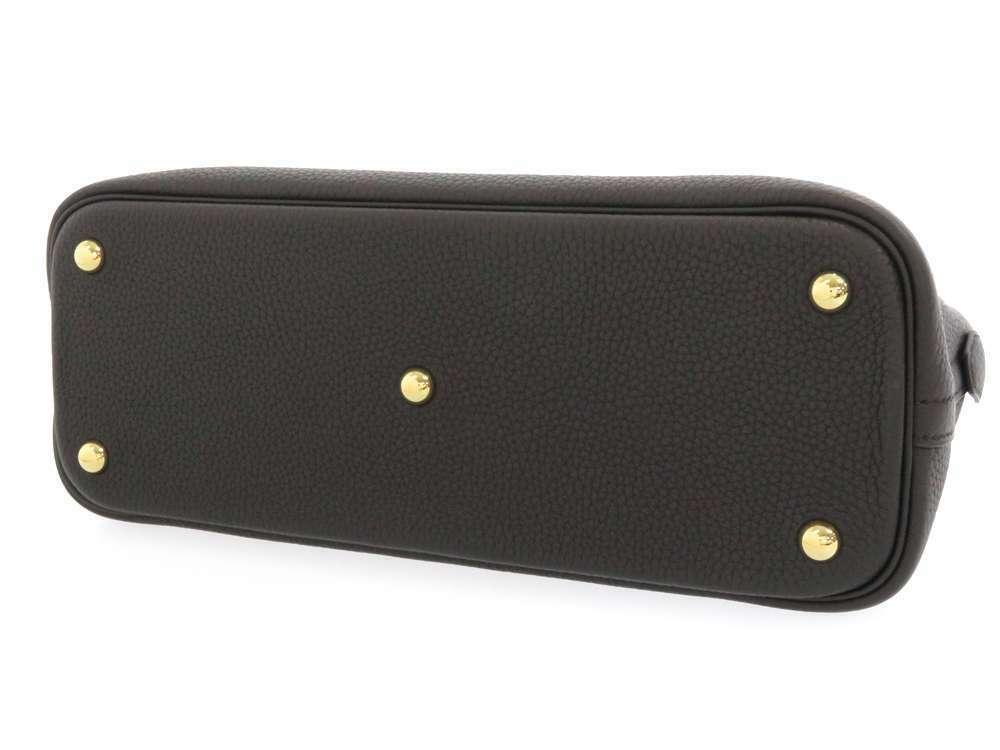 HERMES Bolide 31 Taurillon Clemence Noir 2Way Handbag Shoulder Bag #C Authentic image 3