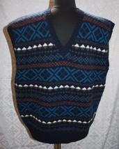 Der Joseph Benjamin Sammlung Größe XL Pullover Weste Strick Shetland Wolle - $29.25