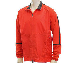 New Mens Nike Golf Full-Zip Mock Neck Wind Jacket Size L Orange/Black MS... - $56.10
