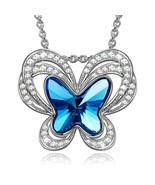 Blue Topaz Butterfly Necklace - $40.03