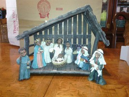 Christmas stable with figurines - $74.25