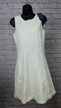 J.Crew Sleeveless Ivory/Creme A-line Professional Dress Size 6 - $27.43