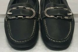 Cole Haan Black Leather Mocas Buckle Strap Loafer Women's 8 B Driving Shoes image 5