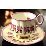 ROSINA Pink Roses Tea Cup Set Vintage 1950's Rosina English Bone China #... - $18.45