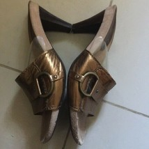 Aerosols gold bronze slip-ons sandals shoes - $25.74