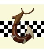 Maori Fish hook Necklace in Koa Wood and Bone - $25.00