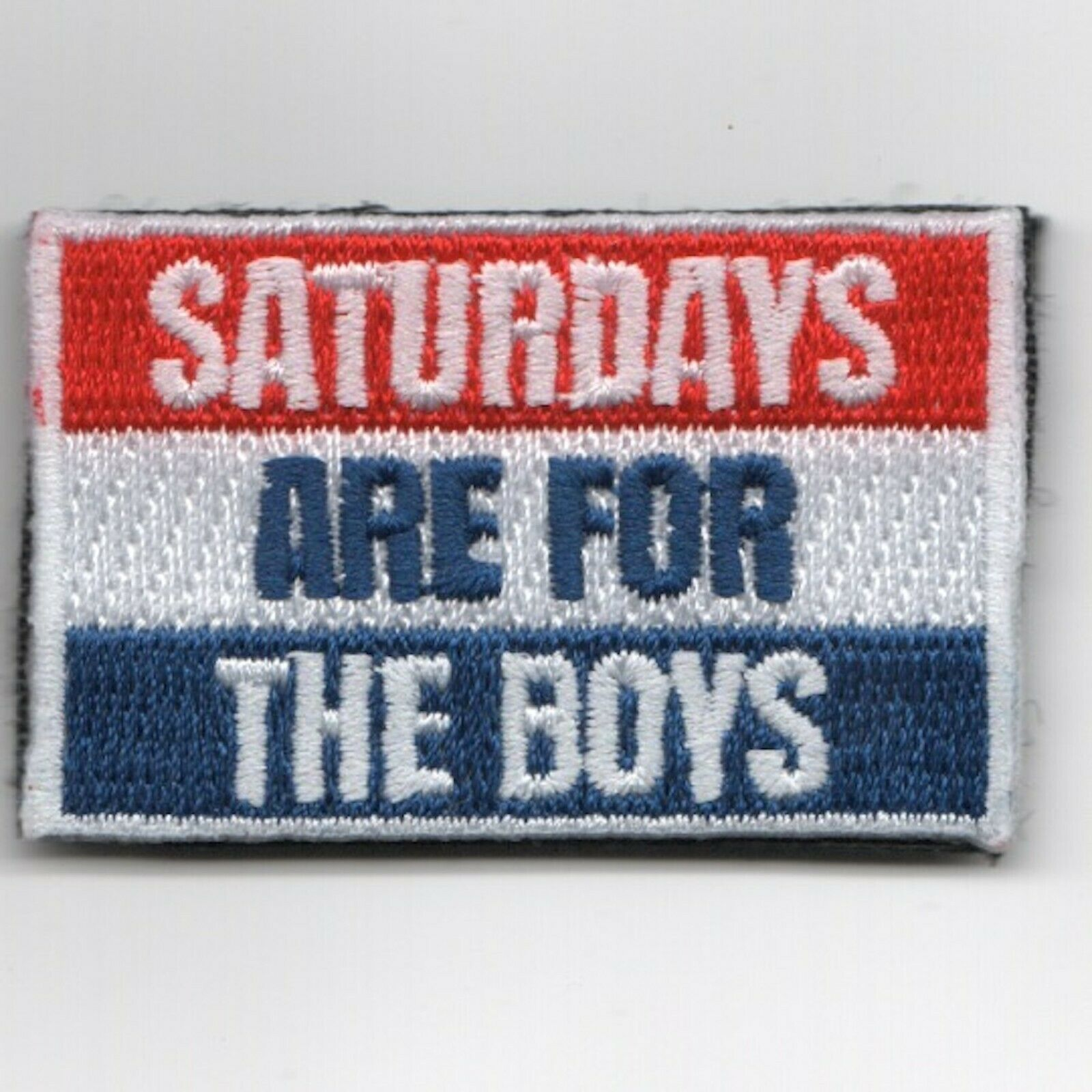 "Primary image for 2"" NAVY FSS SAFTB SLEEVE SATURDAYS ARE FOR THE BOYS EMBROIDERED JACKET PATCH"