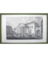 DENMARK Copenhagen Town Hall - 1820s Copper Engraving by Cpt. Batty - $21.42