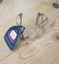 723 Silver Diamond Cutout Cuff Bracelet (New) - $8.58