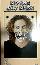 Punk Horror HALF FACE MASK-JAW MOVES Halloween Cosplay costume Accessory... - £4.48 GBP