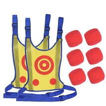 OUTFANDIA 2 Pack Kids Dodgeball Tag Sticky Vest Set Outdoor Throwing Tar... - $26.70