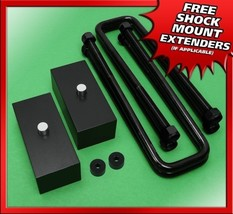 "1999-2020 Silverado Sierra 6-Lug 2"" Rear Billet Blocks U-bolts Lift Kit ... - $57.43"