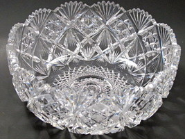 "Cut glass ABP bowl blown blank Antique 9.5"" - $157.67"