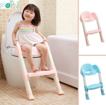 Foldable Kids Children Babies Toddlers Toilet Potty Trainer Seat With La... - $40.89