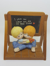 "Vintage Rare Enesco figurine ""I love you 'cause you are my best friend"" ... - $8.18"