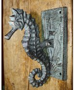 Cast Iron Antique Style Nautical SEAHORSE Door Knocker Green Finish Sea ... - £18.86 GBP