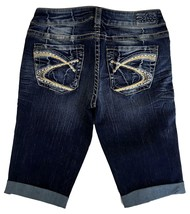 SILVER JEANS Sale New Buckle Dark Mid Rise Aiko Denim Jean Stretch Short... - $18.67+