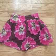 Girls GAP KIDS Brown and Pink Floral Skirt… - $19.80