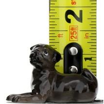 Hagen Renaker Dog Pug Baby Black Ceramic Figurine image 2
