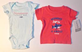 Carter's Infant Boys 2pc Bodysuit and T-Shirt Set Mommy Says Size Newbor... - $9.45