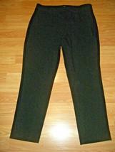 LOFT ANN TAYLOR JULIE BLACK STRETCH DRESS PANTS w/BELT SIZE 8 - $19.34