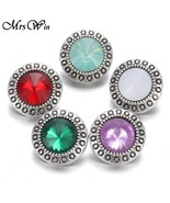 lot new 12mm snap jewelry 12 designs rhinestone mini metal snap buttons fit 12mm snap thumbtall