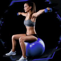 "25.59"" Yoga Ball Exercise Core Stability Strength Anti-Burst Heavy Duty Blue - $18.99"