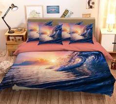 3D Sea Wave 221 Bed Pillowcases Quilt Duvet Cover Set Single Queen King Size AU - $90.04+