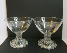 IMPERIAL CANDLEWICK ART DECO GLASS DESSERT SORBET Dishes w Etched Leaf P... - $14.80