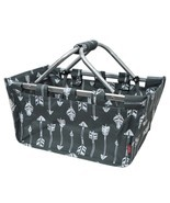 Gray Arrow Print NGIL Canvas Shopping, Market, Picnic Basket - $24.75