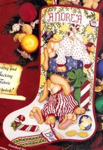 NO CORDING Janlynn Sleepy Bunnies Christmas Cross Stitch Stocking Kit 54-71 R - $124.95