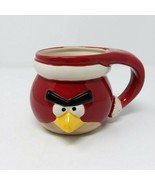 Flix Candy Angry Birds Red Santa Mug 3D Coffee Cup Hot Chocolate Rovio Game - $9.46
