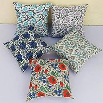 Traditional Jaipur Set of 5 Block Print Fabric Indian Cushions Pillow Co... - $44.54