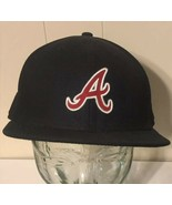 Atlanta Braves Hat 7 1/2 New Era Authentic Collection 59Fifty MLB Baseba... - $12.40