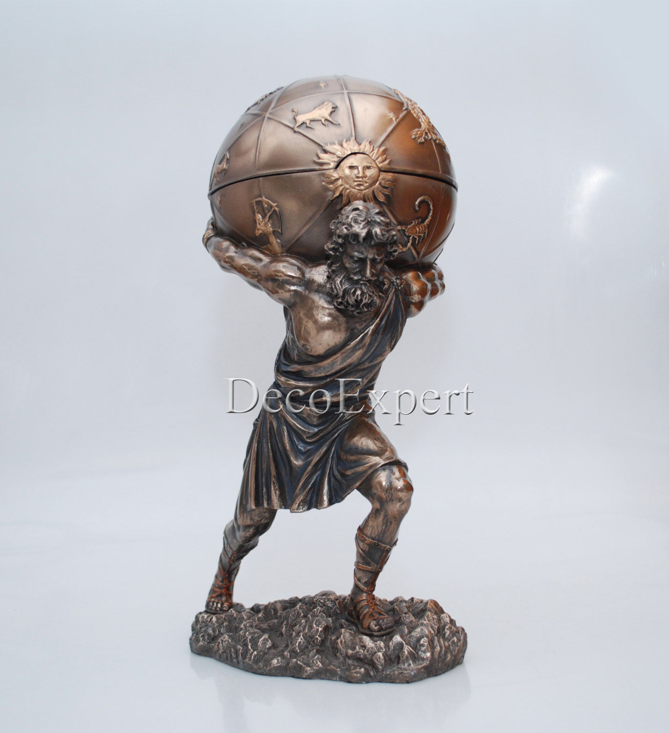 Atlas Greek God with casket Holds Heavens Statue * * * Free Shipping Everywhere