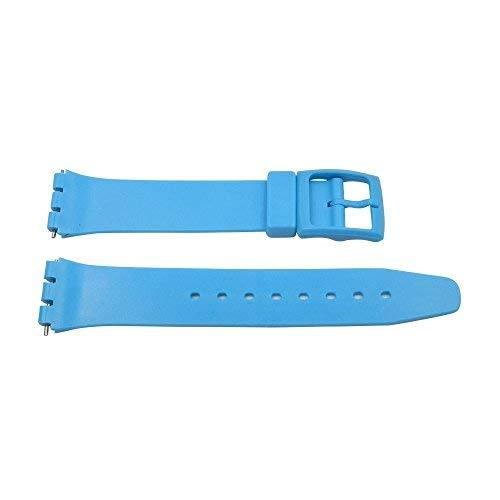 Primary image for 17mm Sky Blue PVC Swatch Style Replacement Watch Band