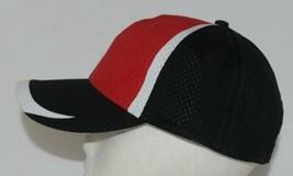 Augusta Sportswear Six Panel Red Black White Hook Loop Adjustable 6290 Adult image 2