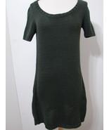 PRADA Hunter Green Knit Sweater Dress Short Sleeve NWOT 44 - $269.99