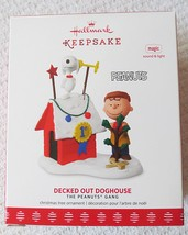 Hallmark Peanuts Gang Decked Out Doghouse w/Light & Sound 2017 Ornament - $31.95