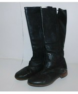 UGG Australia Black Tall Leather Boots Size 7 - $99.99