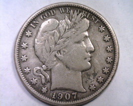 1907-O Barber Half Dollar Extra Fine Xf Extremely Fine Ef Nice Original Coin - $215.00