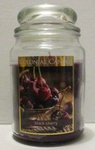 NEW COLONIAL CANDLE BLACK CHERRY SCENT FRAGRANCE LARGE 18 OZ GLASS JAR - $11.99